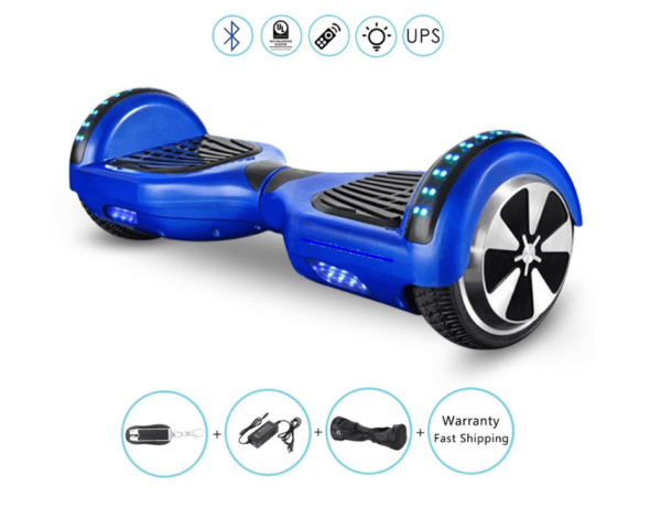 Blue hoverboard bluetooth
