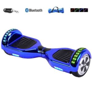 Blue hoverboard with LED