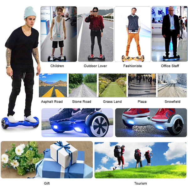 hoverboard black 8 inch5