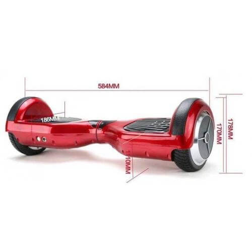 red self balancing scooter