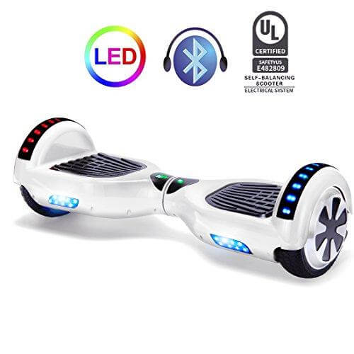 self balancing scooter 6.5 inch white