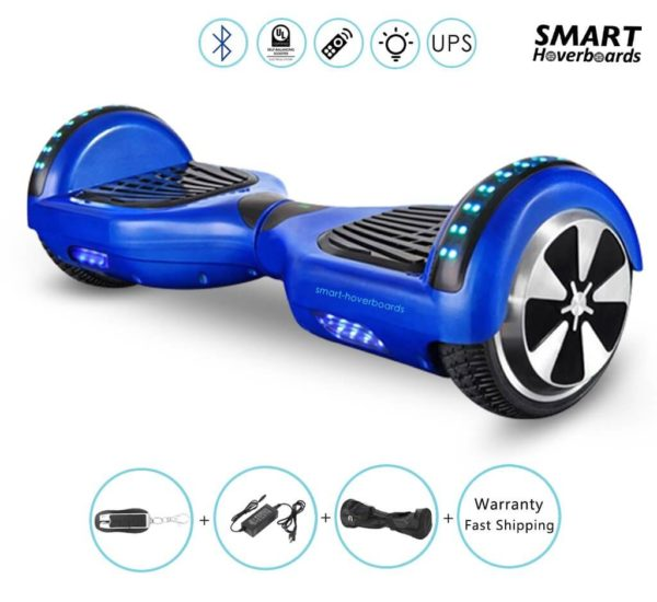 small blue hoverboard