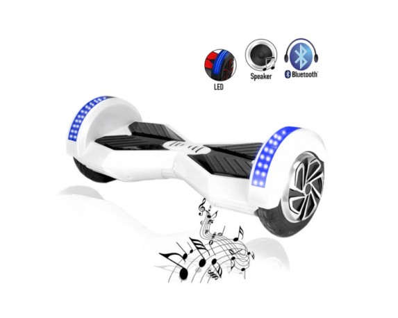 white hoverboard 6.5 inch size