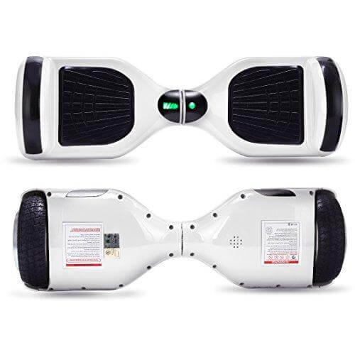 white hoverboard 6.5 inches front and back side